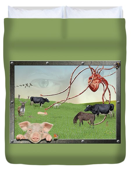 Escape From Eden Duvet Cover