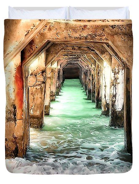 Escape To Atlantis Duvet Cover