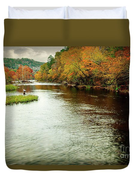 Escape To Beaver's Bend Duvet Cover