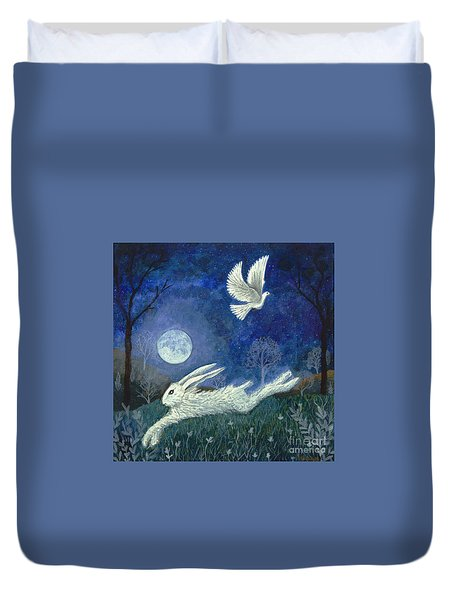 Escape With A Blessing Duvet Cover