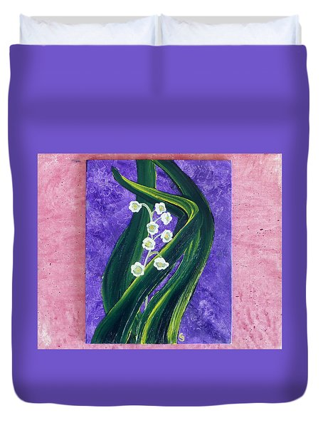 Escaping Winter Lilly Of The Valley Duvet Cover