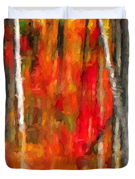 Escapism - Fall Reflections Duvet Cover