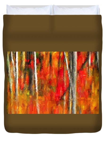 Escapism - Fall Reflections Duvet Cover by Andrea Kollo