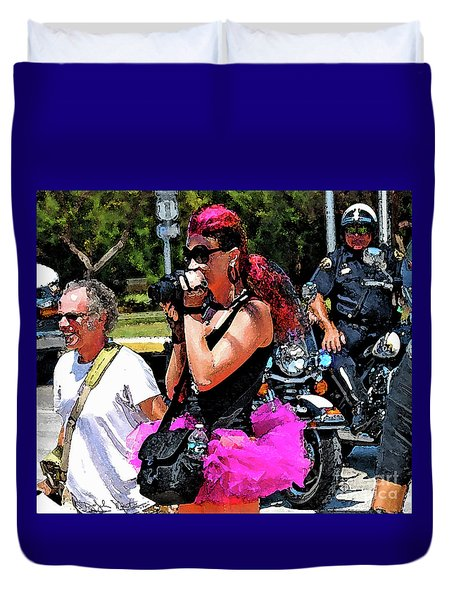 Escorted Bike Ride  Duvet Cover