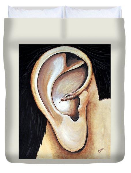 Lengua Detractora Duvet Cover