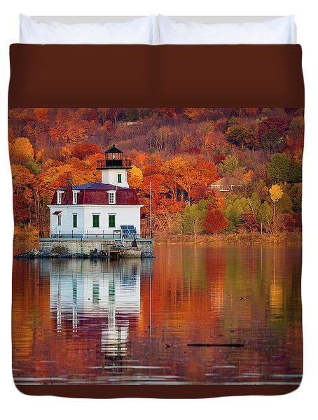 Esopus Lighthouse In Late Fall #2 Duvet Cover