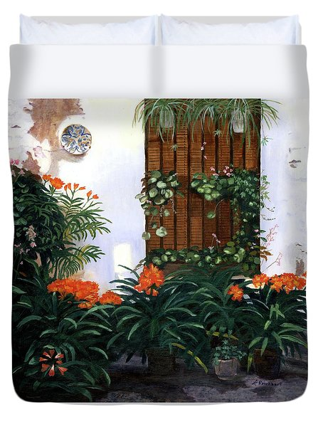 Duvet Cover featuring the painting Espana by Lynne Reichhart