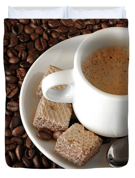 Espresso Coffee Duvet Cover by Carlos Caetano