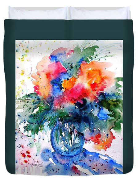 Essence Of Summer #2 Duvet Cover by Trudi Doyle