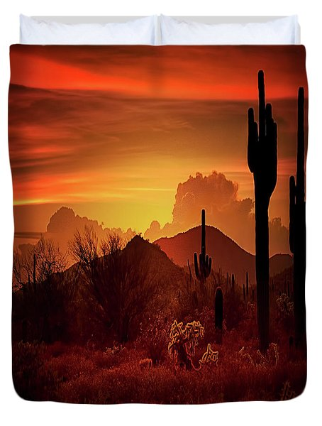 Duvet Cover featuring the photograph Essence Of The Southwest - Square  by Saija Lehtonen