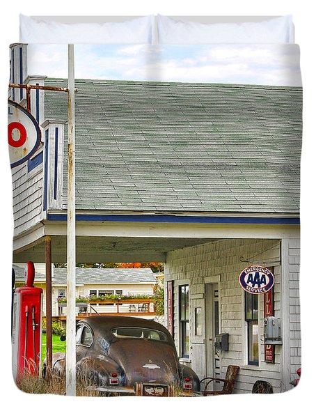 Esso Gas Staion Duvet Cover