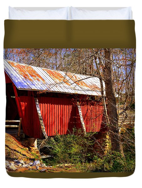 Est. 1909 Campbell's Covered Bridge Duvet Cover