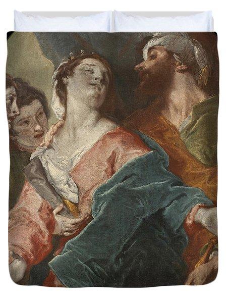 Esther And Ahasuerus Duvet Cover