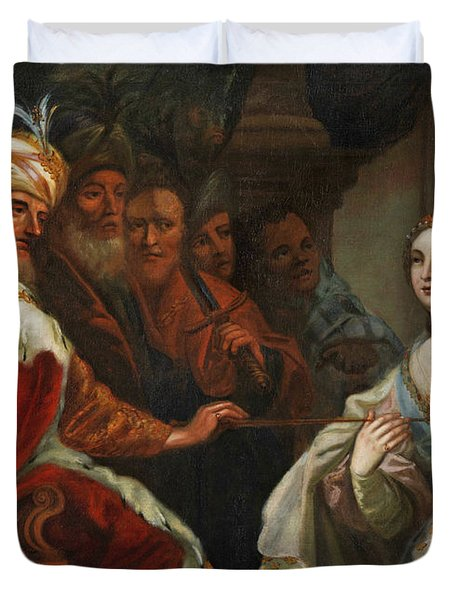 Esther Before King Ahasuerus Duvet Cover