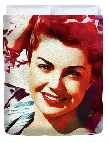 Esther Williams, Vintage Movie Star Duvet Cover