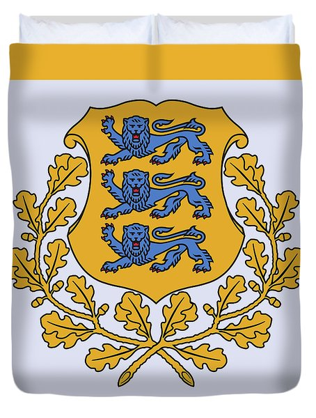 Estonia Coat Of Arms Duvet Cover by Movie Poster Prints