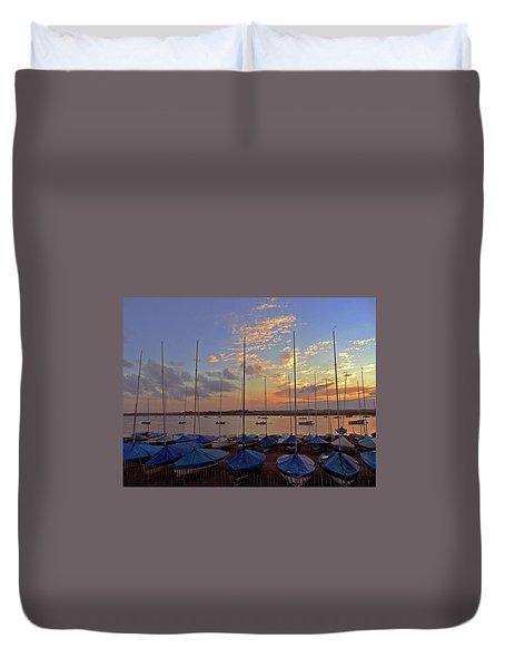 Duvet Cover featuring the photograph Estuary Evening by Anne Kotan