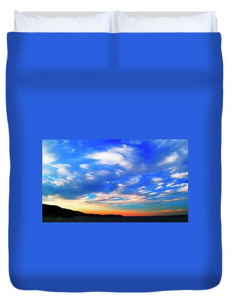 Estuary Skyscape Duvet Cover