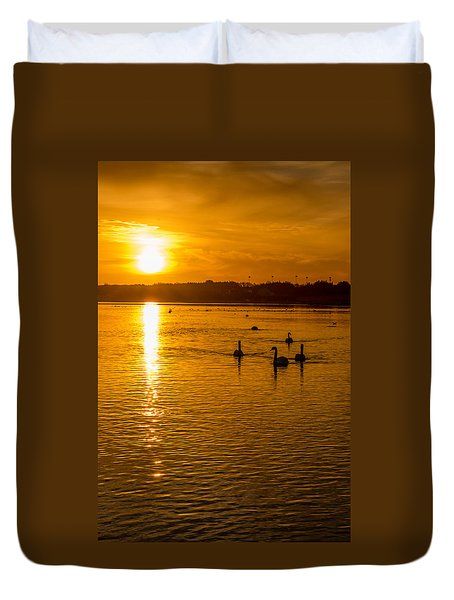 Estuary Sunset Duvet Cover