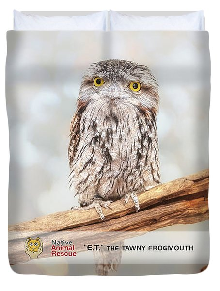 Et Wide Awake, Native Animal Rescue Duvet Cover