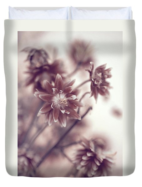 Duvet Cover featuring the photograph Eternal Flower Dreams  by Jenny Rainbow