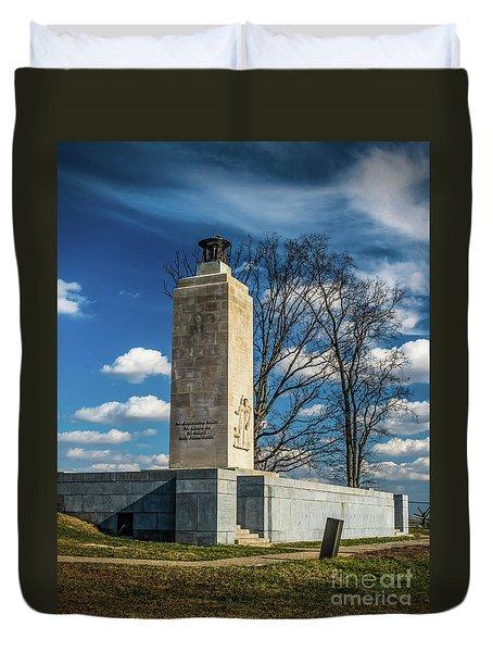 Duvet Cover featuring the photograph Eternal Light Peace Memorial by Nick Zelinsky
