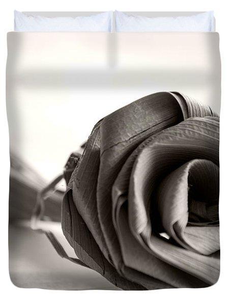 Eternal Rose In Sepia Duvet Cover