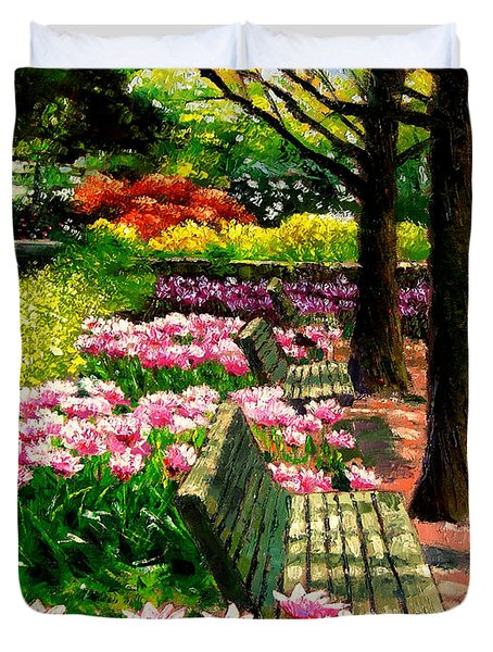 Eternal Spring Duvet Cover by John Lautermilch