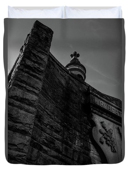 Eternal Stone Structure Bw Duvet Cover