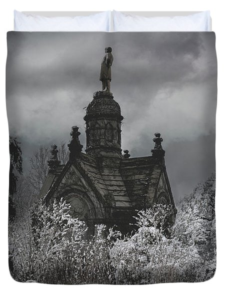 Duvet Cover featuring the digital art Eternal Winter by Chris Lord