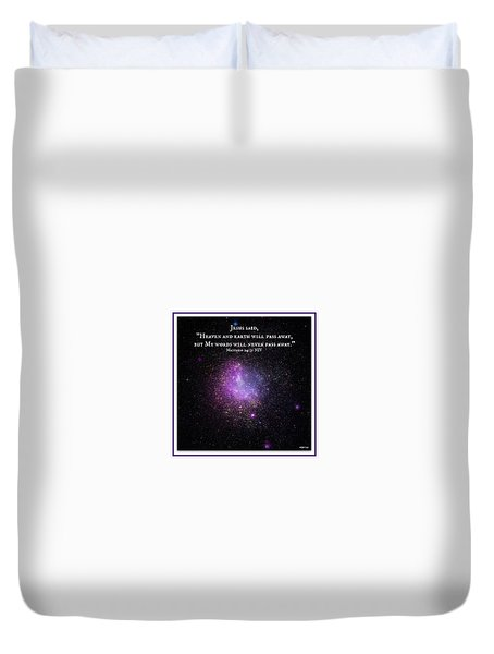 Eternal Word Of God Duvet Cover