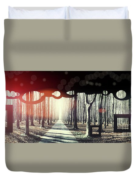 Duvet Cover featuring the photograph Eternity, Conceptual Background by Ariadna De Raadt