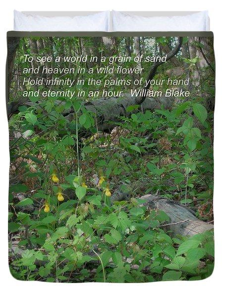 Eternity In An Hour Duvet Cover by Deborah Dendler