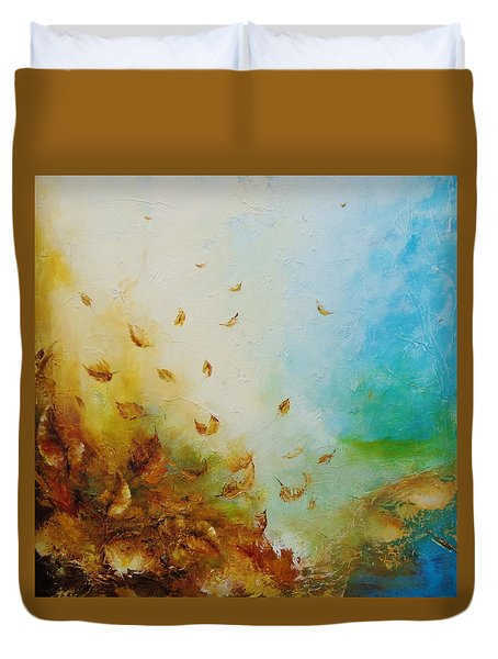 Duvet Cover featuring the painting Ethereal Autumn by Dina Dargo