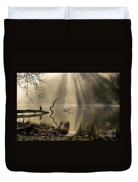 Duvet Cover featuring the photograph Ethereal - D009972 by Daniel Dempster