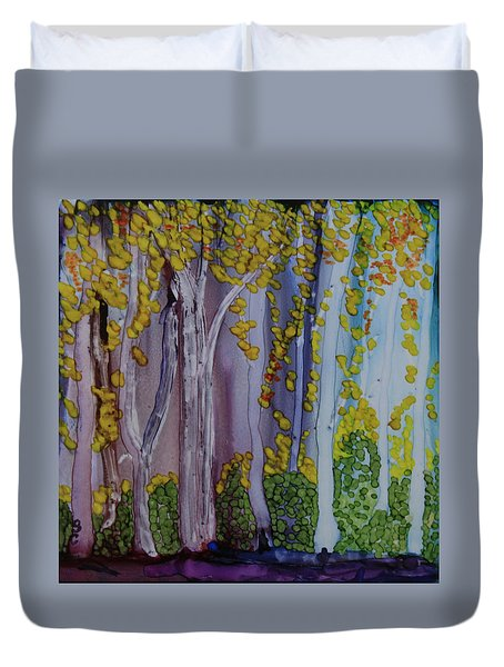 Ethereal Forest Duvet Cover by Suzanne Canner
