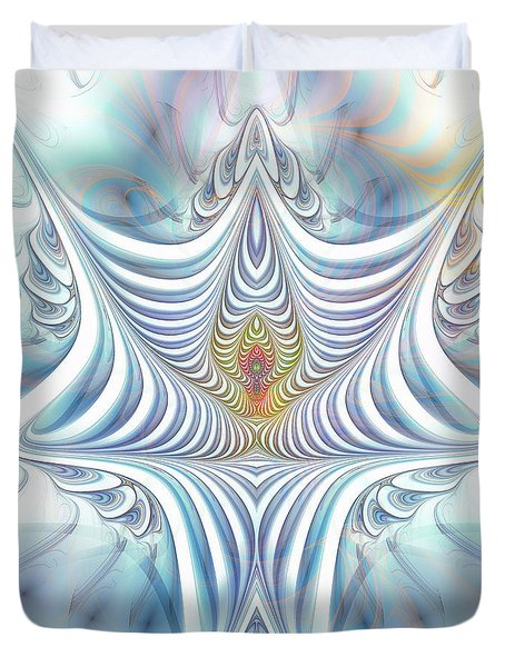 Duvet Cover featuring the digital art Ethereal Treasure by Jutta Maria Pusl