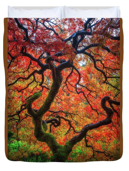 Duvet Cover featuring the photograph Ethereal Tree Alive by Darren White