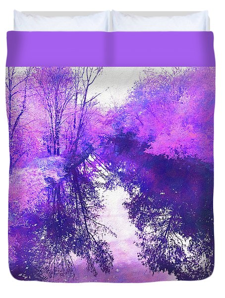 Ethereal Water Color Blossom Duvet Cover
