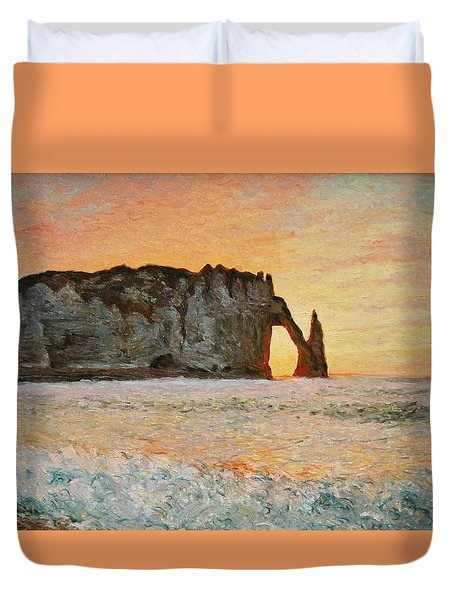 Etretat, Sunset  Duvet Cover