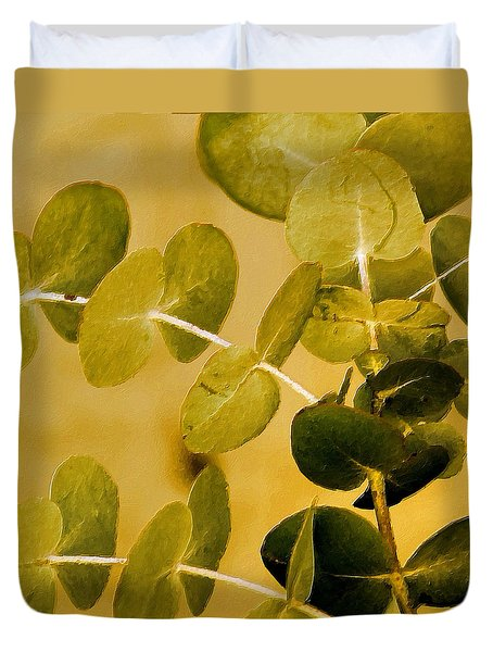 Eucalyptus Duvet Cover by Bonnie Bruno