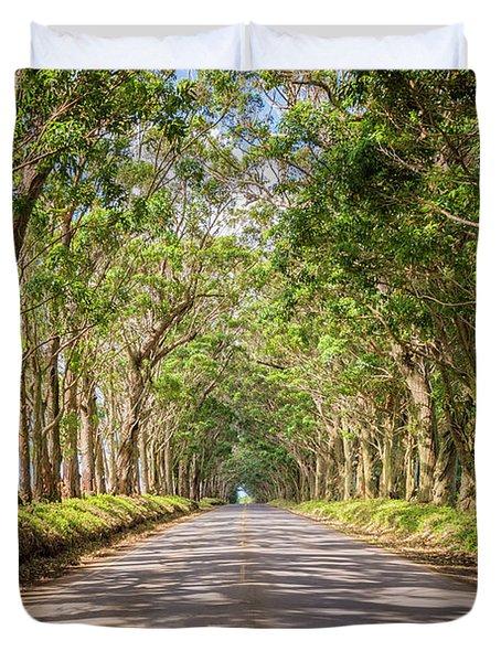 Eucalyptus Tree Tunnel - Kauai Hawaii Duvet Cover by Brian Harig