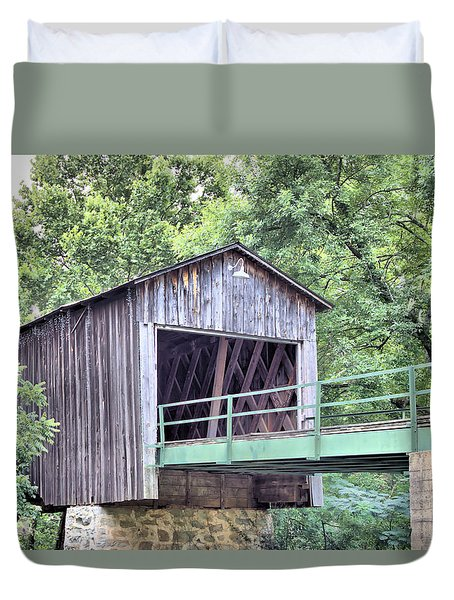 Euharlee Creek Covered Bridge Duvet Cover