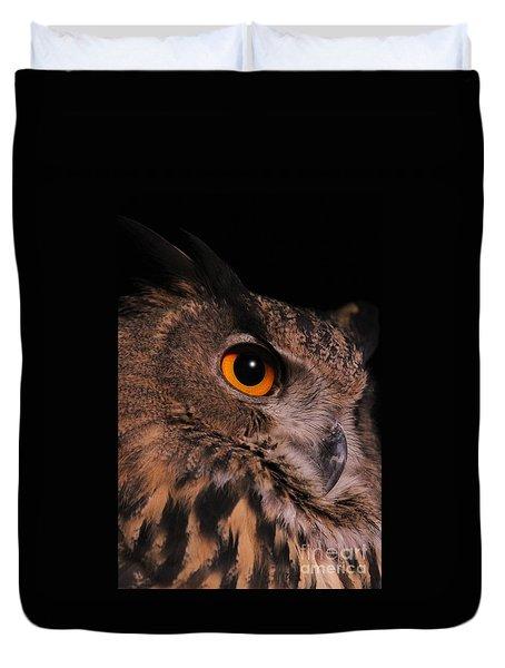 Eurasian Eagle-owl Duvet Cover by Judy Whitton