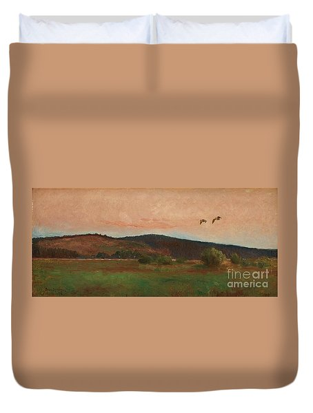 Eurasian Woodcocks Duvet Cover by MotionAge Designs