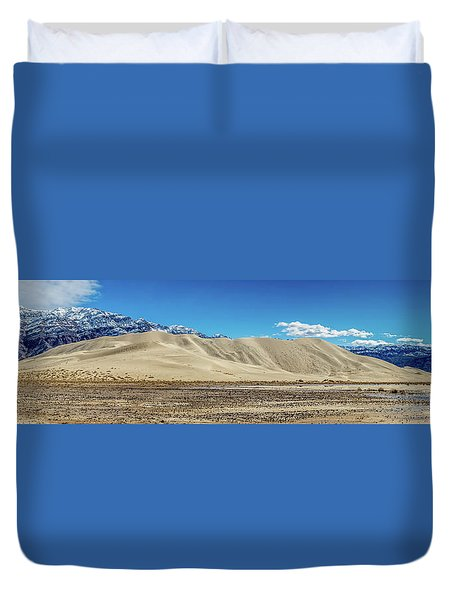 Duvet Cover featuring the photograph Eureka Dunes - Death Valley by Peter Tellone