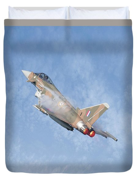 Duvet Cover featuring the photograph Eurofighter by Roy McPeak