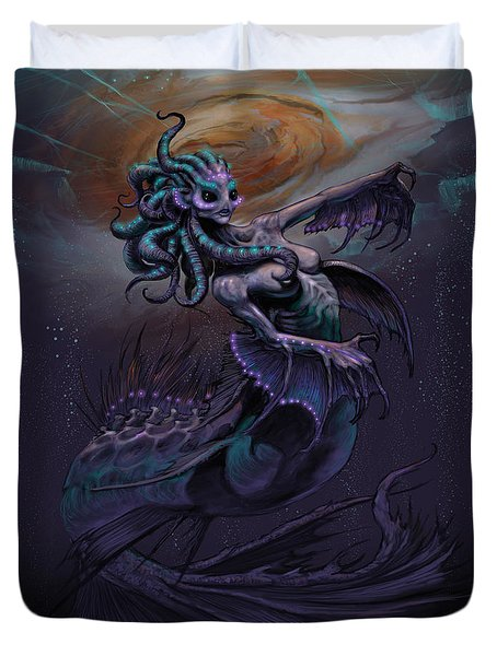 Duvet Cover featuring the digital art Europa Mermaid by Stanley Morrison