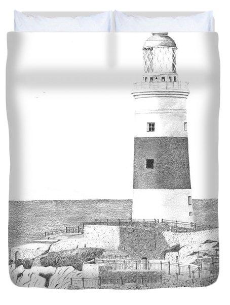 Europa Point Lighthouse Duvet Cover