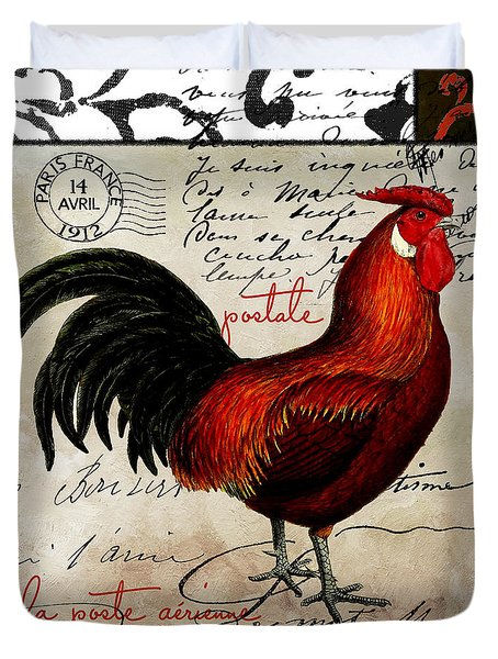 Europa Rooster II Duvet Cover by Mindy Sommers